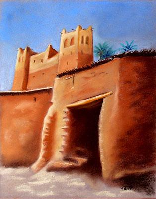 pastel Maroc kasbah 42X32