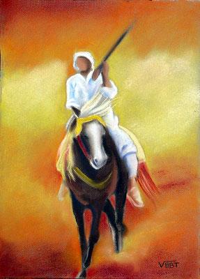 pastel Maroc fantasia 32X24