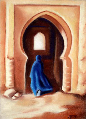 pastel Maroc souk  34X24