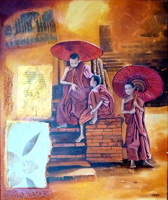 BAGAN huile 46x55 - Myanmar