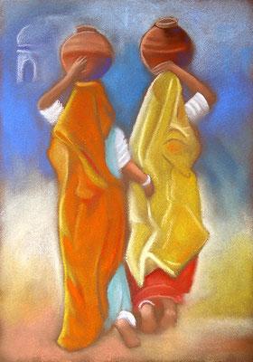 pastel Inde femmes 24X34