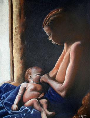 Maternité -pastel 50X65-