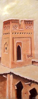 pastel Maroc kasbah  62X22