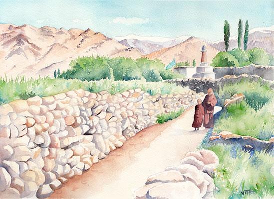 aquarelle Ladakh 31X41