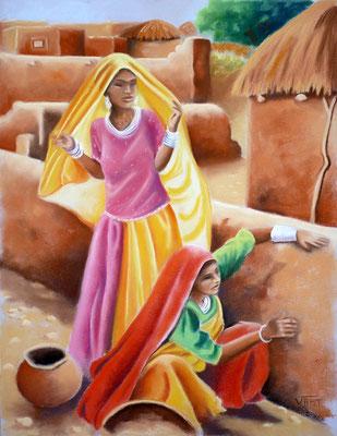 Terre -pastel 50x65-  Inde
