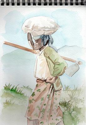carnet de voyage Rwanda Hommes et femmes, tout le monde travaille la terre