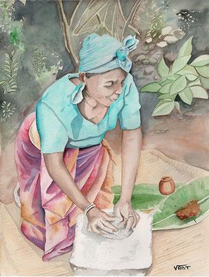 aquarelle Rwanda 31X41