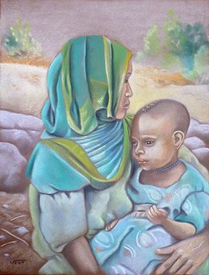 SIMIEN -pastel 50X65 - Ethiopie