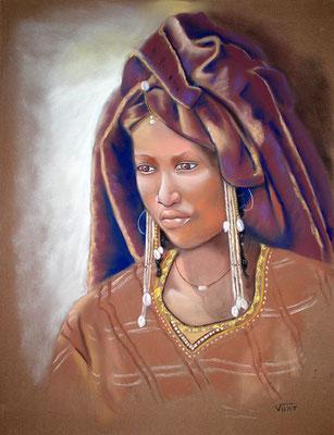 Peule woodabe -pastel 65x50-Niger