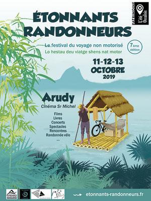 affiche Étonnants Randonneurs  festival du voyage non motorisé 2019