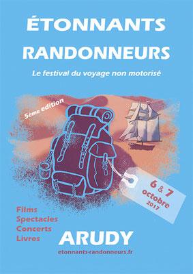 affiche Étonnants Randonneurs   festival du voyage non motorisé 2017