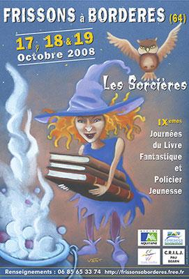 affiche salon du livre jeunesse 2008