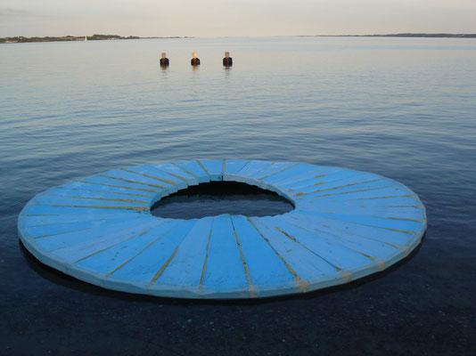 """jetlag"" Skulptur zum Festival ""unmarked_space"" 2008"