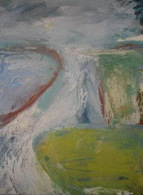 Land en water - 2006 - 30 x 40cm - oil on canvas