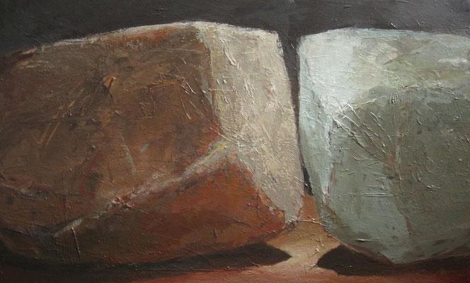 Twee stenen - 2011 - 60 x 100cm - oil on canvas