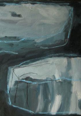 Naderende stenen - 9009 - 50 x 70cm - oil on canvas