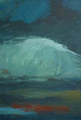 Berg in de nacht - 2011 - 66 x 100cm - oil on canvas