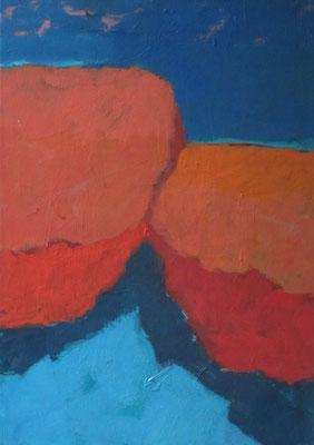 Naderende vormen - 2007 - 70 x 100cm - oil on canvas
