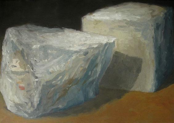 Twee stenen - 2013 - 70 x 120cm - oil on canvas