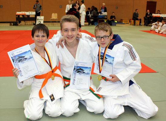 von li. Tom Staats, Ole Surkus und Daniel Gardt, die U16-Starter