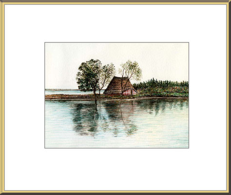 Titel: Grado - Aquarell 16,5 x 12,5 cm