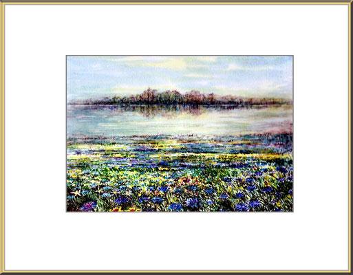 Titel: Traumwiese - Aquarell 24 x 16,5 cm