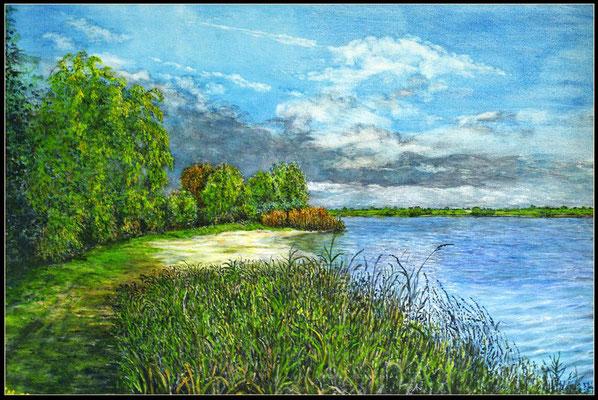 Titel: Dorado Beach NL - Acryl - Leinwand 60 x 50 cm