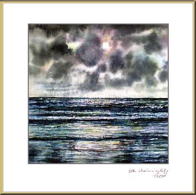 Titel: Nordsee 1 - Aquarell 27 x 25 cm