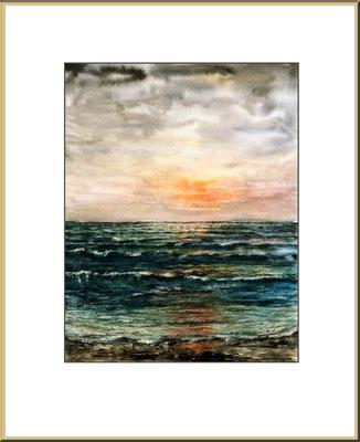 Titel: Nordsee - Aquarell 23 x 32 cm