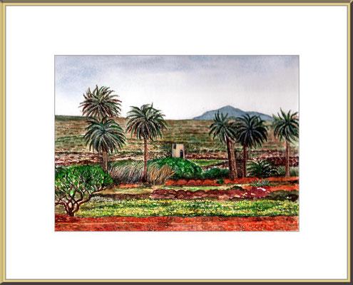 Titel: Fuertventura - Aquarell 26 x20 cm