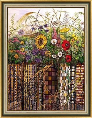 Titel: Hochhauswiese - Acryl - Leinwand 60 x 80 cm