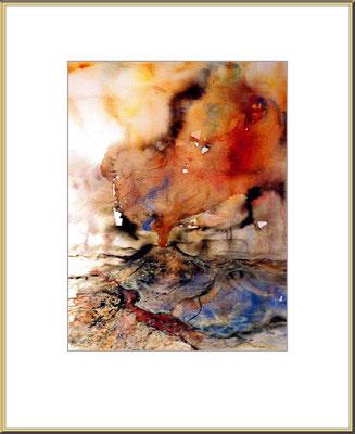 Titel: Vulkan 1 - Aquarell 23 x 31 cm