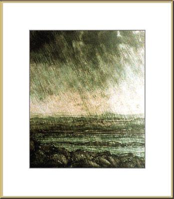 Titel: schlechtes Wetter - Aquarell 17 x 19 cm