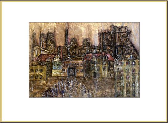 Titel: Ehret den Baum - Metallmatrize 30 x 19 cm