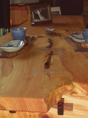 琉球松の一枚板の座卓 南城市