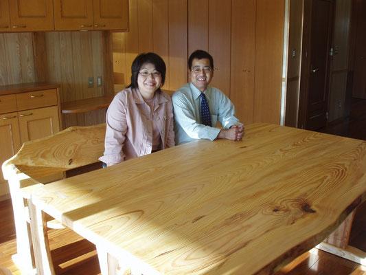 琉球松のテーブル8人掛け 南風原町