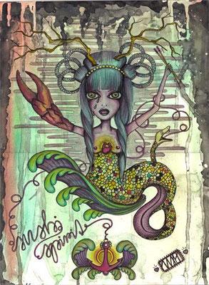 sushi:spirit   297 x  420  watercolor pigmentliner  2011
