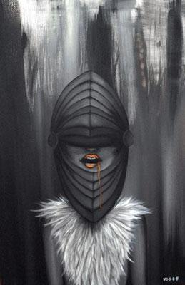 jagd 03  acryl on canvas   59x85 cm
