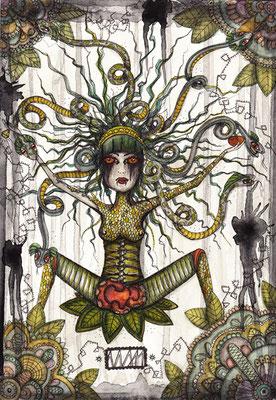bite:me  105 x 148   watercolor pigmentliner   2011  SOLD