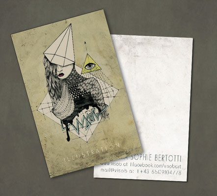 businesscard design illustration *** visob 2012