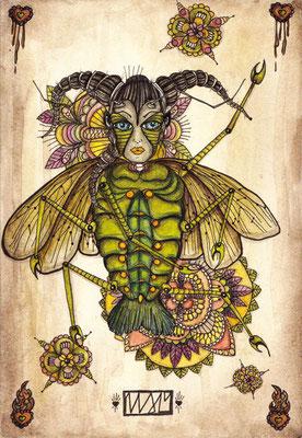 spring:spring  105 x 148   watercolor pigmentliner   2010