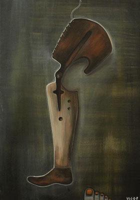 jagd 02  acryl on canvas   49x70 cm