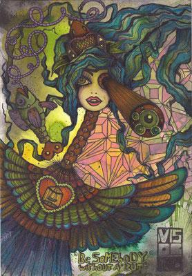 anachronismus  105 x 148   watercolor pigmentliner   2011