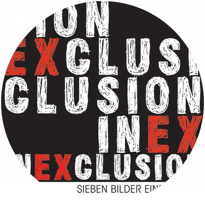 "I N E X C L U S I O N  - Sieben Bilder einer Flucht  all graphic design & design concept for an exhibition ""INEXCLUSION- sieben bilder einer flucht"""