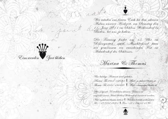 wedding invitation | thomas & marina | visob
