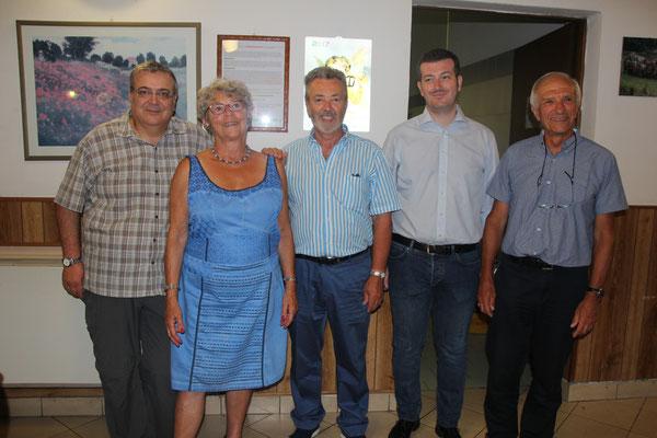 Maires et présidents (voir photo 3 Costanzo et Gérard)