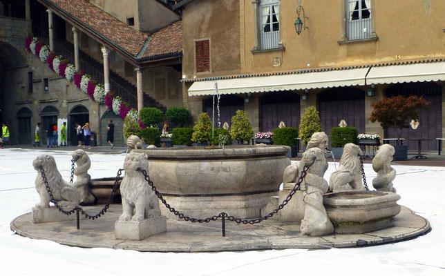 Fontaine à Bergame, où il faisait bon prendre le frais