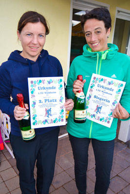 Damen 30 - 2. Platz Jeannette Kunert, Siegerin Miriam Binnenbruck