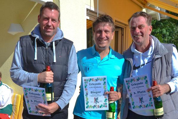 Herren 40 - 3. Platz Jan Peter Kummerow, Sieger Jan Luderer, 2. Platz Marc Schauer