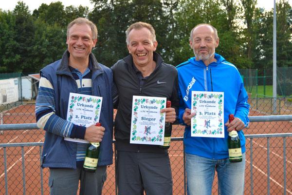 Herren 50 - 2. Platz Milos Valek, Sieger Ernst Schneider, 3. Platz Jiri Mares